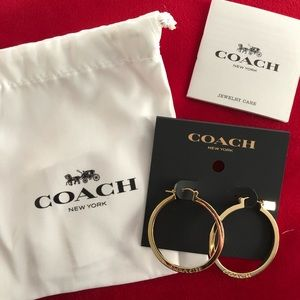 Coach Earrings - Brand New
